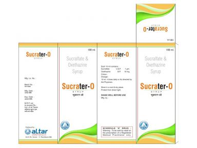 SUCRATER - O - Altar Pharmaceuticals Pvt. Ltd.